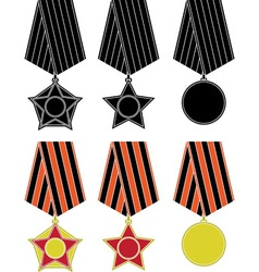 soviet orders and medal vector image