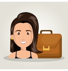 Character woman business portfolio design graphic vector