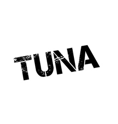 Tuna rubber stamp vector