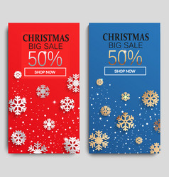 christmas sale cards vector image