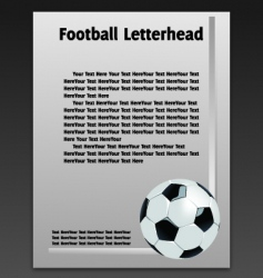 football letterhead vector image