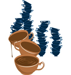 C coffe vector image