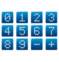 Digits square icons vector