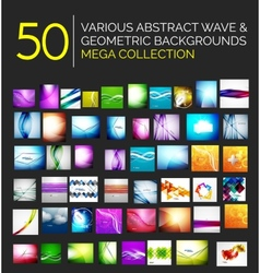 Abstract blurred waves and shiny designs set vector
