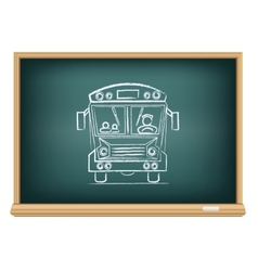 Board school bus vector