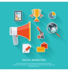 Digital marketing concept vector