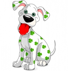St patrick's day dog vector