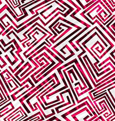 red maze seamless pattern vector image
