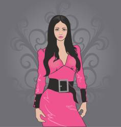 Girl in pink vector