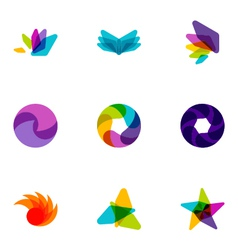 logo design elements set 08 vector image