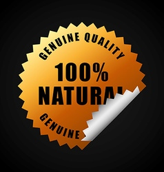 100 percent natural vector