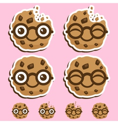 Smart cookie cartoon vector