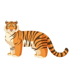 Cartoon standing tiger vector