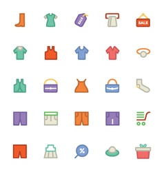 Clothes icons 10 vector
