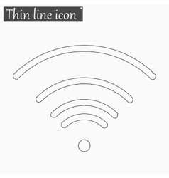 Wi-fi icon style thin line vector