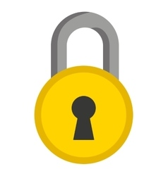 Padlock isolated icon design vector