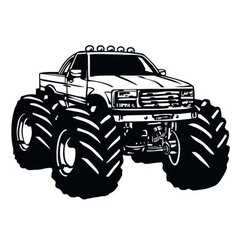 Monster truck cartoon vector