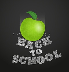 Back to school concept falling apple to the vector