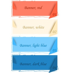 Banners with corners vector image vector image