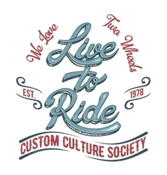 Biker society logo vector