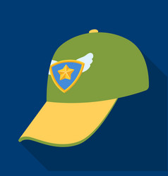 Cap football fanfans single icon in flat style vector