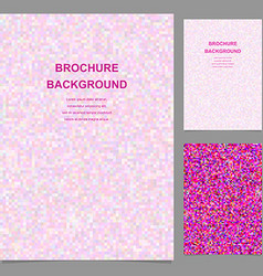 Colored abstract square tile mosaic brochure vector image vector image