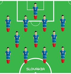 Computer game slovakia football club player vector
