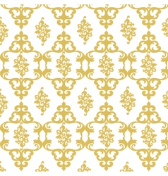 Damask luxury golden ornament vector
