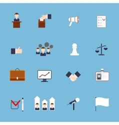 Elections icons set flat vector