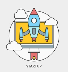 Flat design concept for Startup for web ban vector image