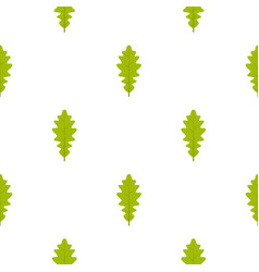 green oak leaf pattern seamless vector image vector image