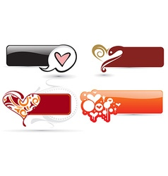Hearts banner vector