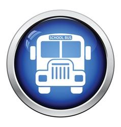 Icon of School bus vector image vector image
