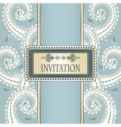 invitation template pattern vector image vector image