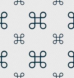 Keyboard maestro icon seamless pattern with vector