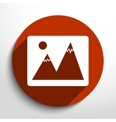 landscape web icon vector image