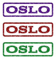 oslo watermark stamp vector image