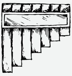 Pan flute symbol vector