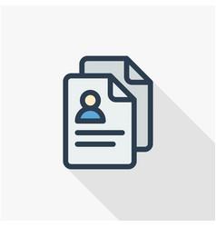 Profile social media user picture recruitment vector