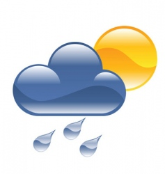 rain illustration vector image