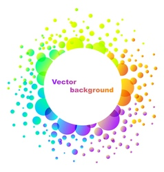 Rainbow abstract flower background isolated on whi vector