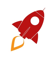 Retro Rocket Ship Design vector image vector image