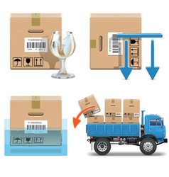 Shipment icons set 31 vector