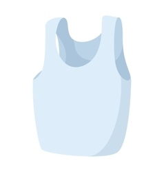Sleeveless shirt icon cartoon style vector