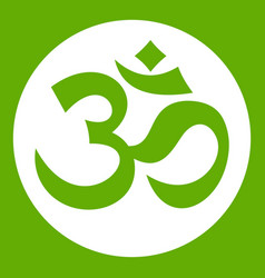 Symbol aum icon green vector