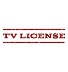 Tv license watermark stamp vector
