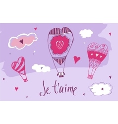 Valentine day love message lettering vector