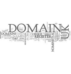 Why register uk domains text word cloud concept vector
