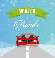 Winter roads design vector