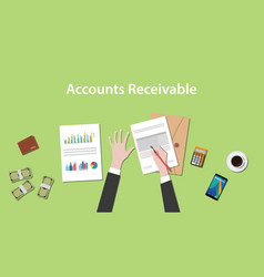 Accounts receivable with a man vector